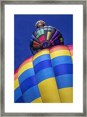 Three Hot Air Balloons Framed Print