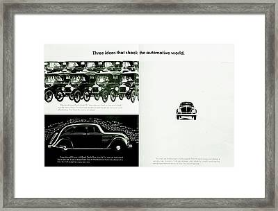Three Ideas Framed Print by Benjamin Yeager