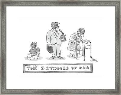 Three Images Of A Baby Framed Print by Paul Karasik