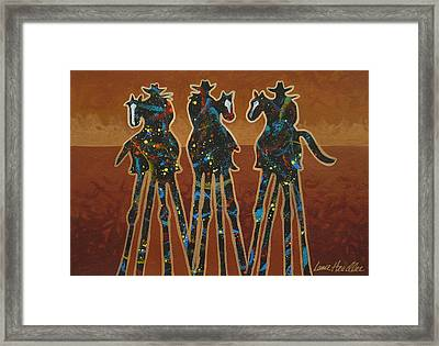 Three In Brown Framed Print by Lance Headlee