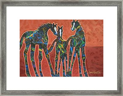 Three In The Family Framed Print by Lance Headlee