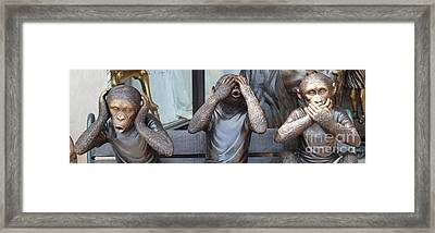 Politicians Framed Print by Michael Keough