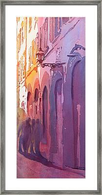 Three Italians Framed Print by Jenny Armitage