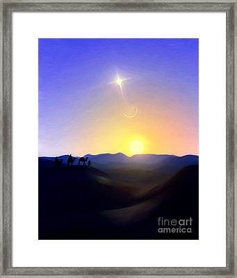 Three Kings Comet Framed Print
