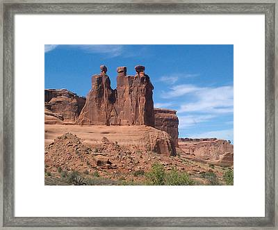 Framed Print featuring the photograph Three Kings by Fortunate Findings Shirley Dickerson