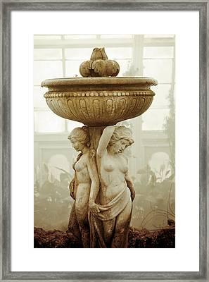 Three Ladies Fountain Framed Print