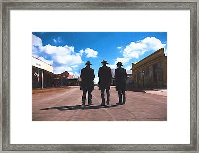 Three Lawmen Framed Print