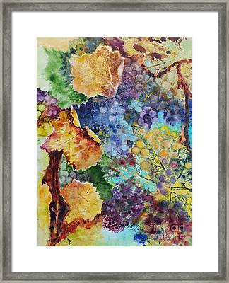 Three Leaves Framed Print by Karen Fleschler