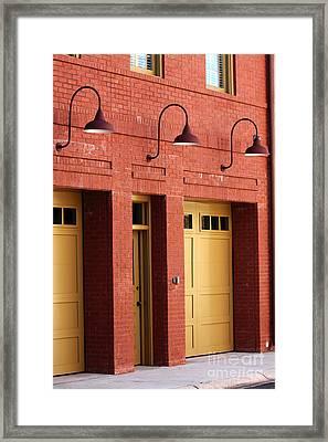 Three Lights In Savannah Framed Print