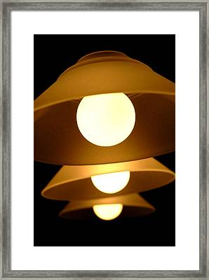 Framed Print featuring the photograph Three Lights by Lena Wilhite