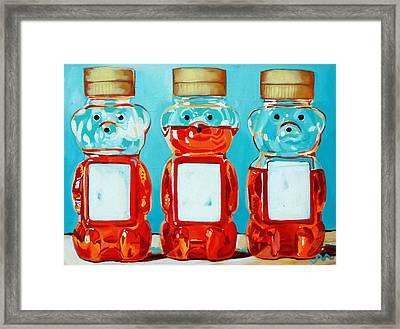 Three Little Bears Framed Print