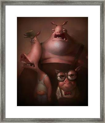 Three Little Pigs Framed Print by Adam Ford