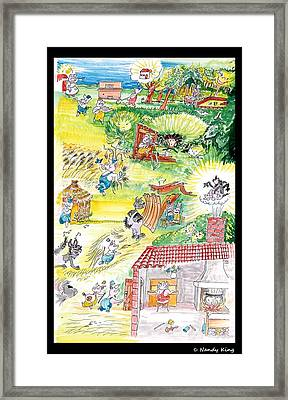 Three Little Pigs Framed Print by Nandy King
