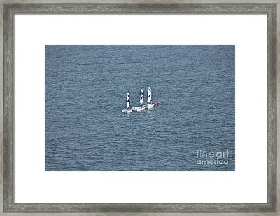 Three Little Sailing Boats Framed Print