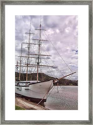 Three Mast Sail Boat Framed Print