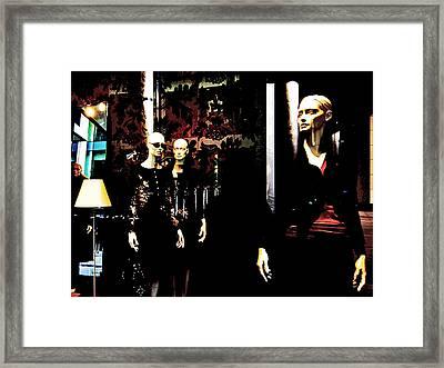 Three Models  Framed Print