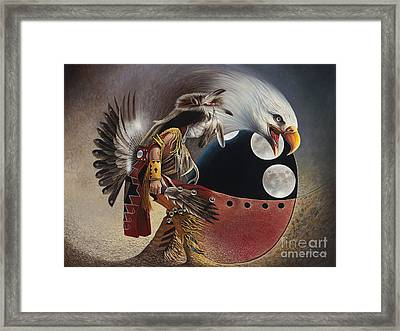 Three Moon Eagle Framed Print by Ricardo Chavez-Mendez