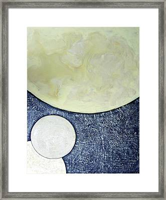 Three Moons Framed Print