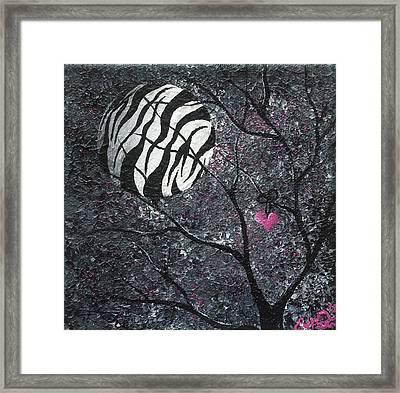 Three Moons Series - Zebra Moon Framed Print by Oddball Art Co by Lizzy Love