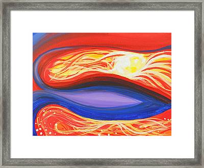 Three Mountains Under One Sun Panel Number One Framed Print by David Keenan