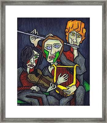 Three Musicians Framed Print by Kamil Swiatek
