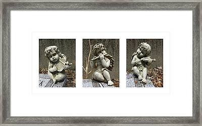 Three Musicians Triptych  Framed Print