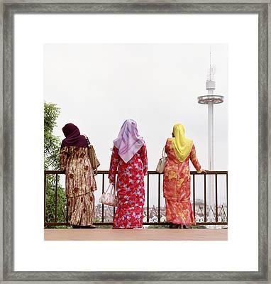 Three Muslim Women Framed Print by Shaun Higson