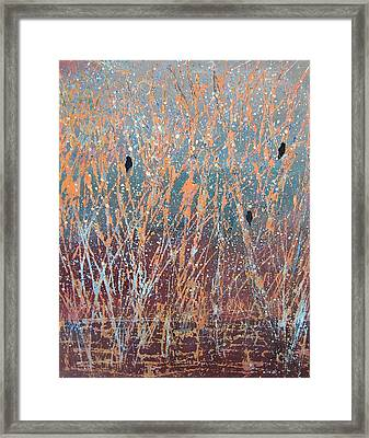 Framed Print featuring the painting Three Of A Kind by Suzanne Theis