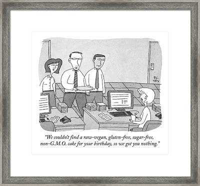Three Office Workers Framed Print by Peter C. Vey