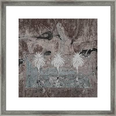 Three Palms Oasis Framed Print