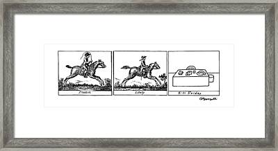 Three Panels Framed Print