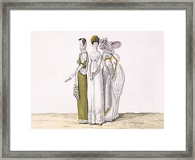 Three Parisian Graces, Plate 16 From Le Framed Print by French School
