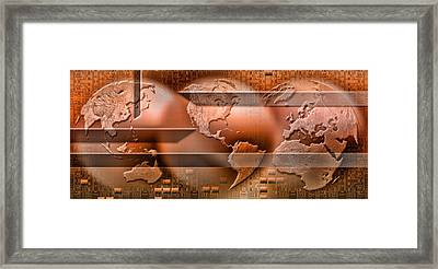 Three Parts Of The Earth Surrounded Framed Print by Panoramic Images