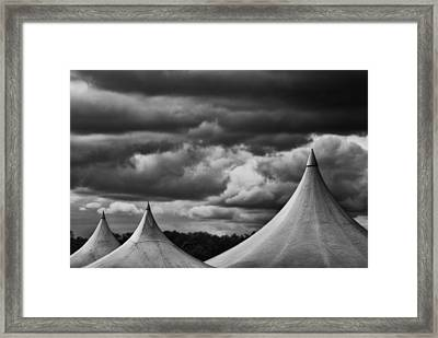 Framed Print featuring the photograph Three Peaks by Adrian Pym