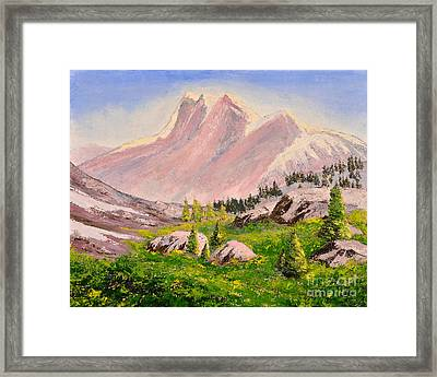 Three Peaks Framed Print