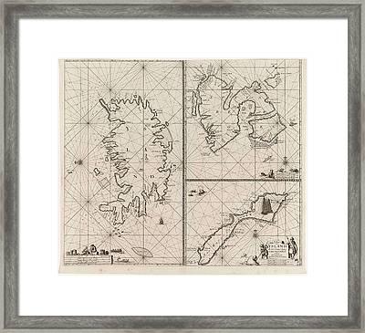Three-piece Waiver Of Iceland, Jan Mayen Island Framed Print