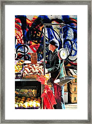Three Pounds For A Dollar Framed Print by Diana Angstadt
