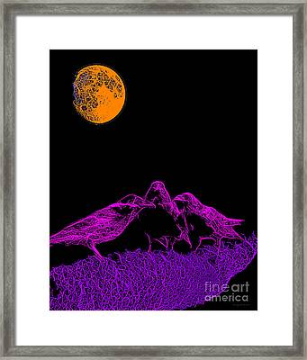 Three Ravens Framed Print by Wingsdomain Art and Photography