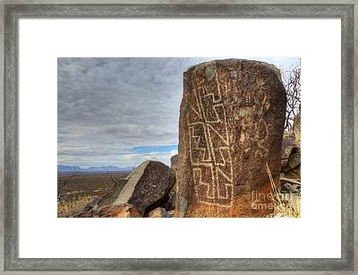 Three Rivers Petroglyphs 4 Framed Print by Bob Christopher