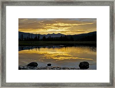 Three Rocks Framed Print by Bob Berwyn