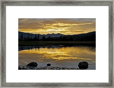 Three Rocks Framed Print