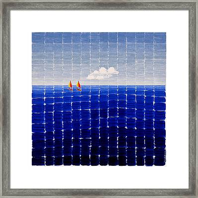 Three Sail Boats #2 Framed Print