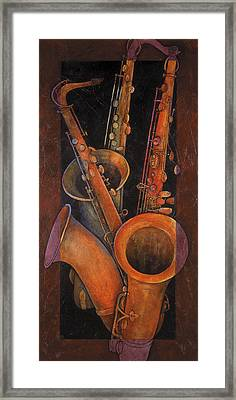 Three Sax Framed Print