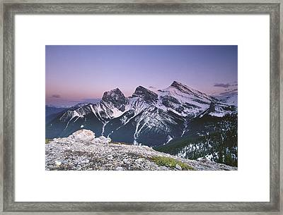 Three Sisters At Twilight Framed Print by Richard Berry