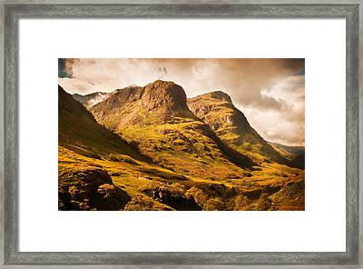 Three Sisters. Glencoe. Scotland Framed Print