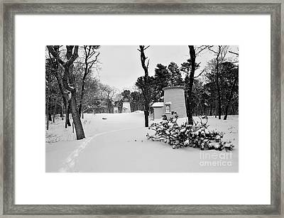 Three Sisters Light Black And White Framed Print