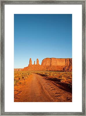 Three Sisters Mitchell Mesa, Monument Framed Print