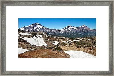 Three Sisters Panorama Framed Print