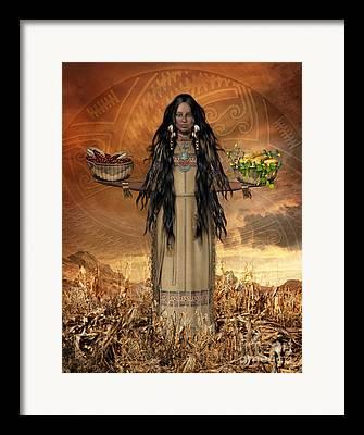 Sisters Digital Art Framed Prints