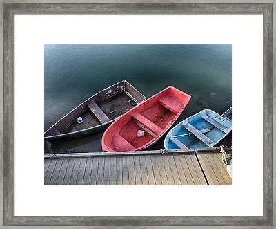 Three Skiffs Framed Print
